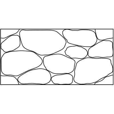 大鹅卵石造型模板
